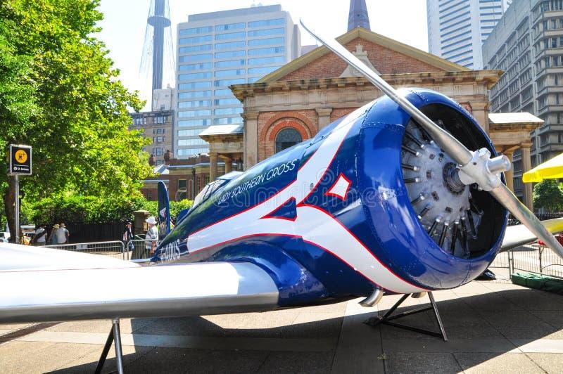 A senhora Southern Cross era um monoplano do Altair de Lockheed possuído pelo aviador pioneiro australiano Sir Charles Kingsford  foto de stock