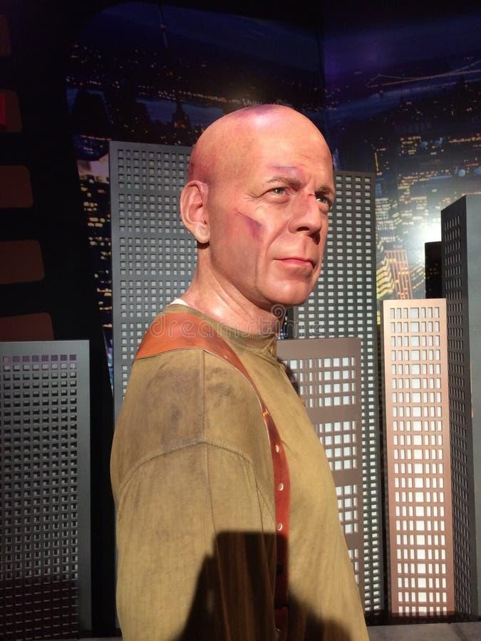 Senhora Tussauds Bruce Willis fotografia de stock