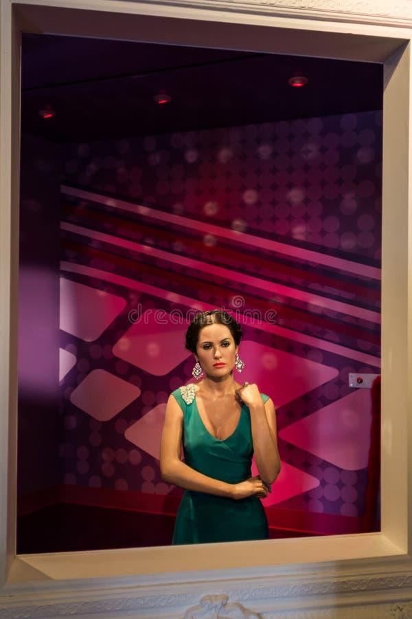 Senhora Tussauds Salma Hayek fotografia de stock
