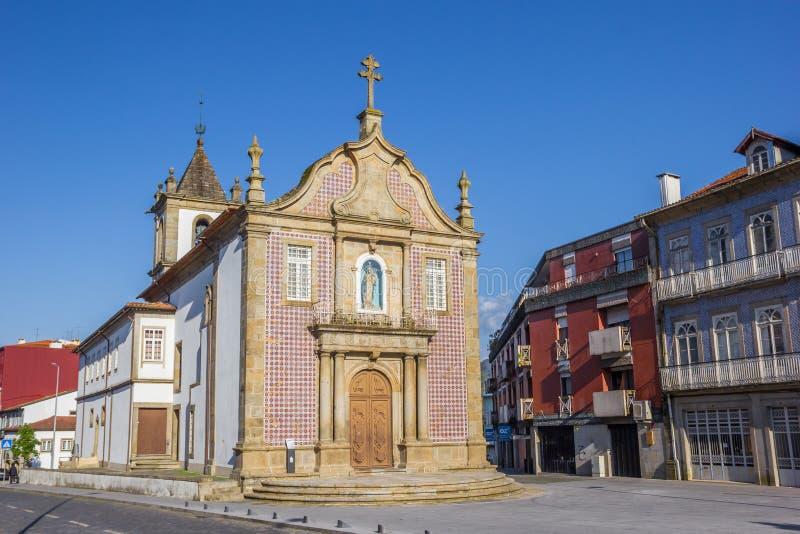 Senhora una iglesia de Branca en el centro de Braga fotos de archivo libres de regalías