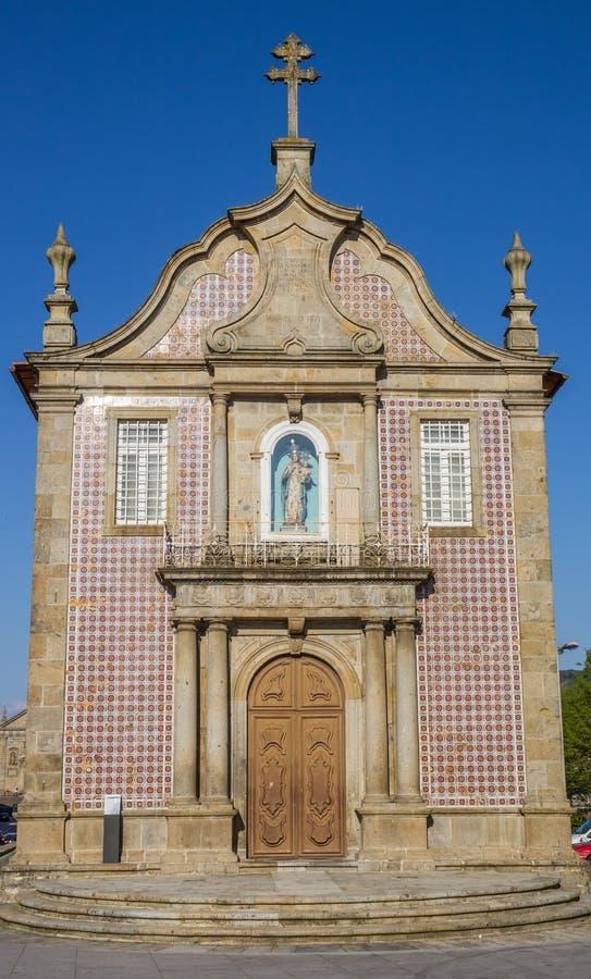 Senhora una iglesia de Branca en el centro de Braga fotos de archivo