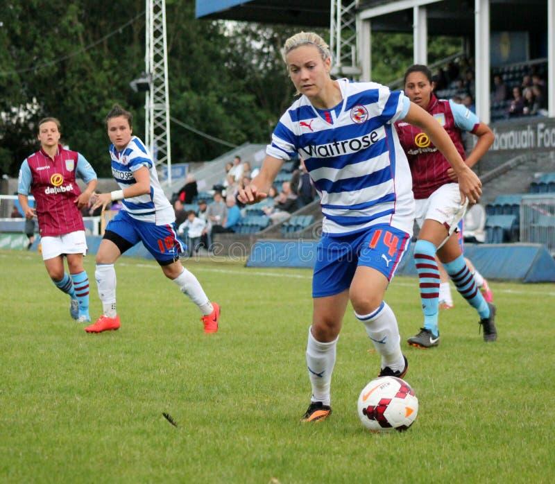 Senhoras das mulheres v Aston Villa da leitura FC imagem de stock