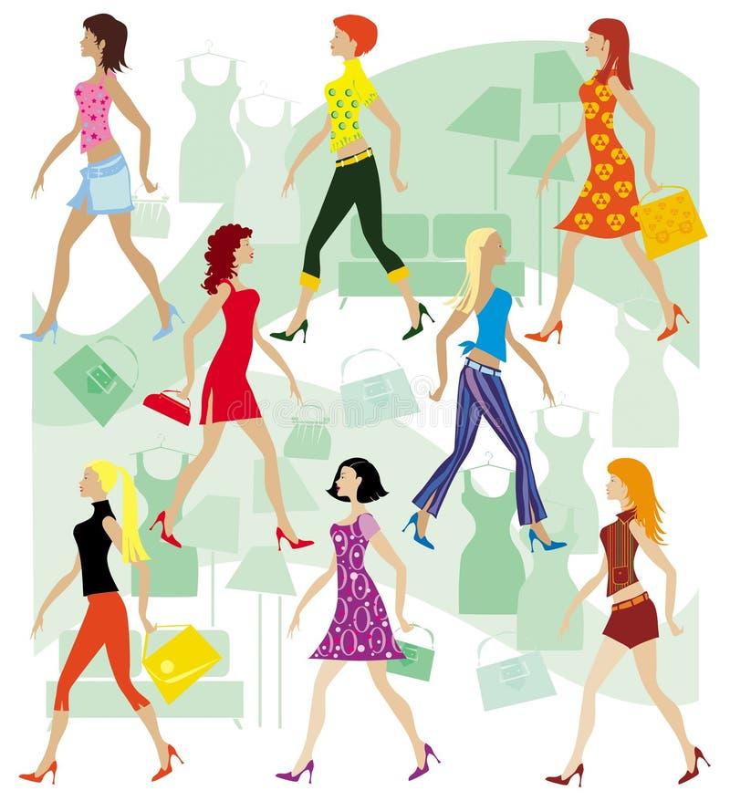 Senhoras na loja ilustração do vetor