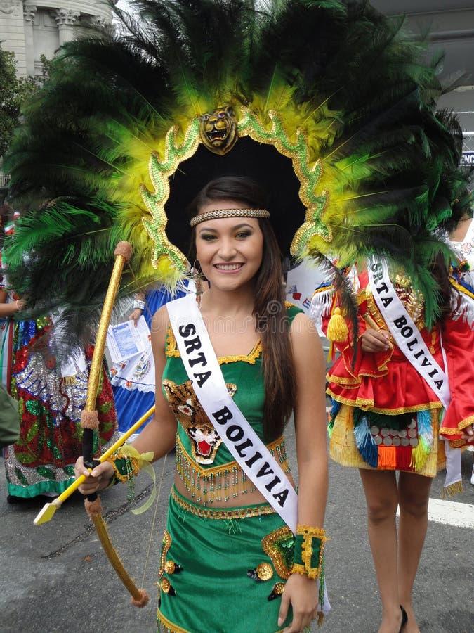 Senhorita Adolescente Bolívia foto de stock