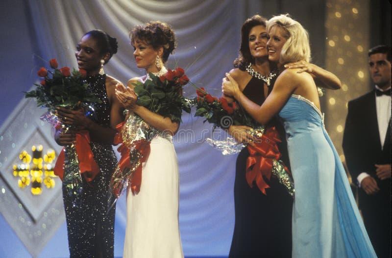 Senhorita America Pageant dos concorrentes em 1994, Atlantic City, New-jersey imagem de stock