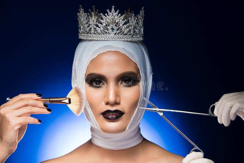 A senhorita Beauty Pageant Contest quer a cirurgia plástica fotos de stock