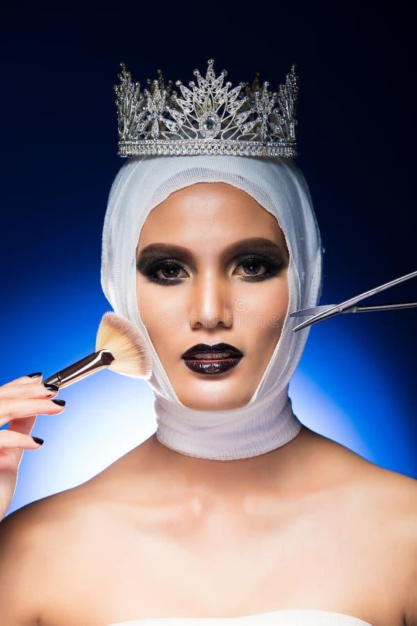 A senhorita Beauty Pageant Contest quer a cirurgia pl?stica imagem de stock
