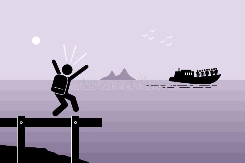 Senhorita o barco ilustração do vetor