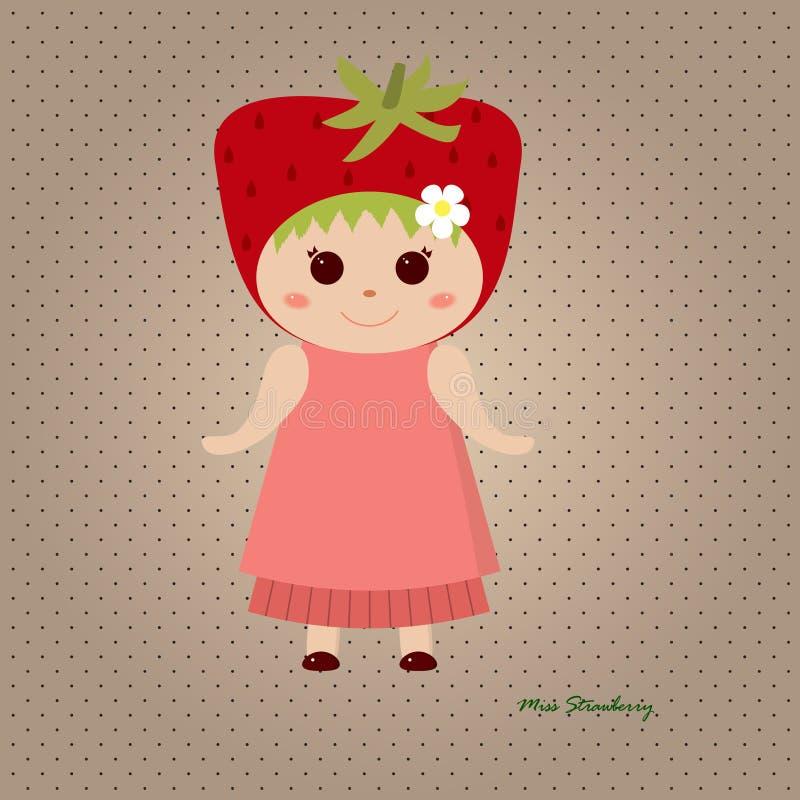 Senhorita Strawberry ilustração do vetor