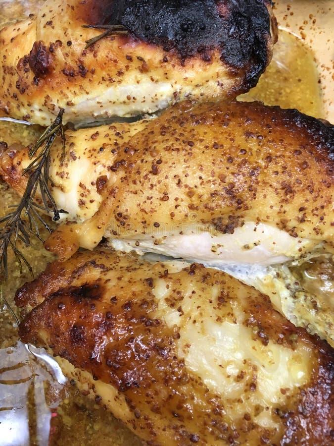 Seni di pollo arrostiti fotografia stock