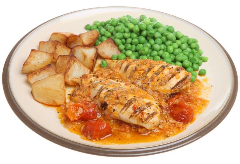 Seni di pollo con la salsa di Provencal immagini stock libere da diritti