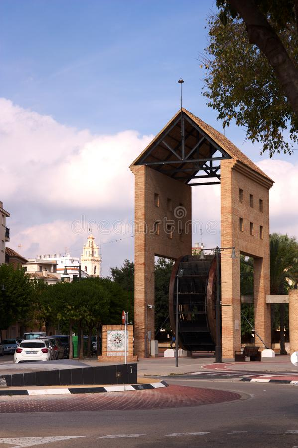 The senia of San Antoni de L& x27;Alcudia. Is a ferris wheel that was installed in 1842 in the Acequia Real del Júcar and watered during the 136 years the stock images