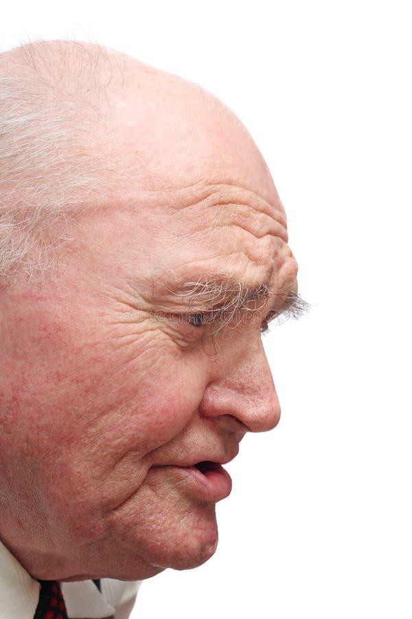 senior łysy człowieku zdjęcia royalty free
