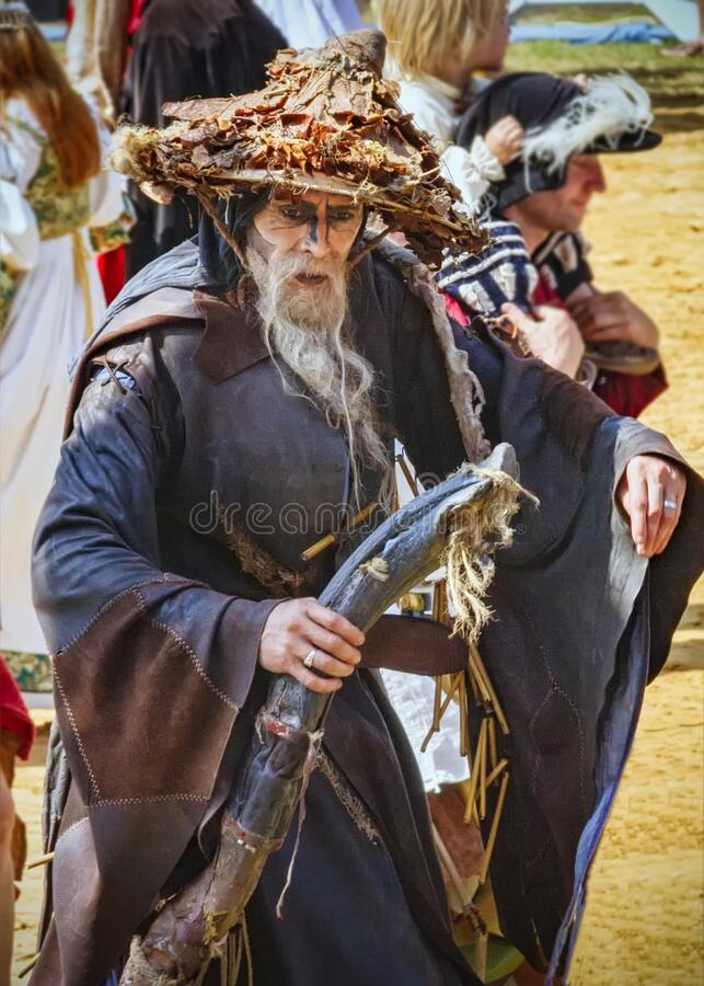 Free Senior Actor At Medieval Show In The Kaltenberg Arena Stock Image - 172884451