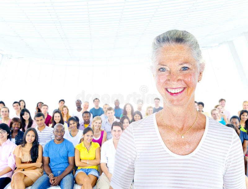 Senior Adult Leadership Professional Seminar Concept royalty free stock photography