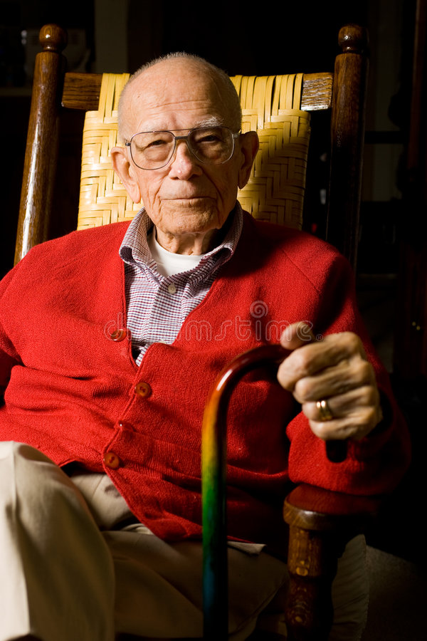 Senior Adult Male stock image