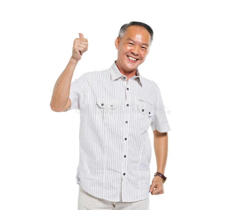 Senior Adult Showing a Thumbs Up stock image