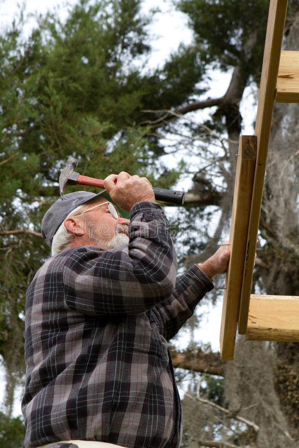 Download Senior Adult Workman stock photo. Image of working, carpenter - 13895490
