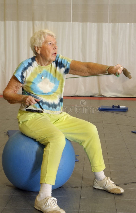 Download Senior Aerobic Workout stock image. Image of holistic - 3219151