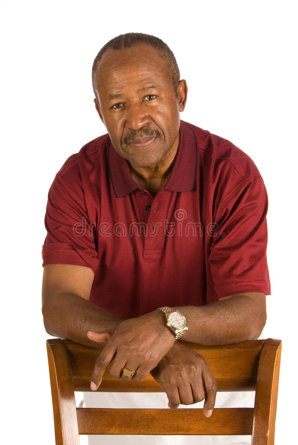 Senior African American man. royalty free stock photography