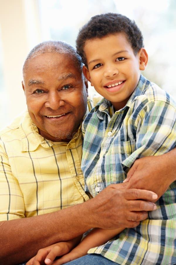 Free Senior African American Man And Grandson Stock Photo - 54951340