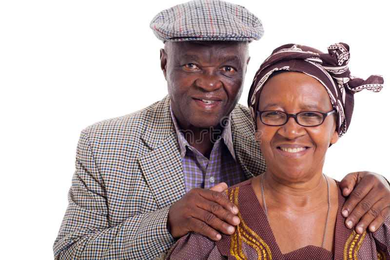 Senior african couple royalty free stock photos
