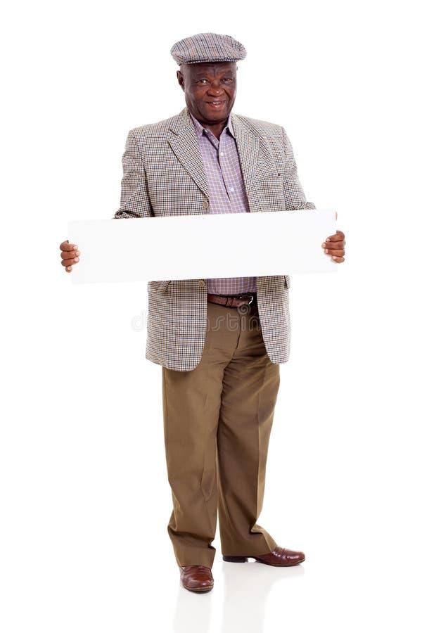Download Senior African Man White Board Stock Image - Image: 33290423