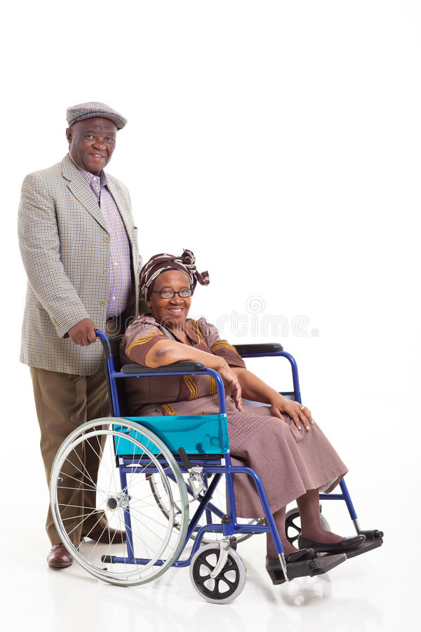 Download Senior African Man Wife Wheelchair Stock Photo - Image: 33291052
