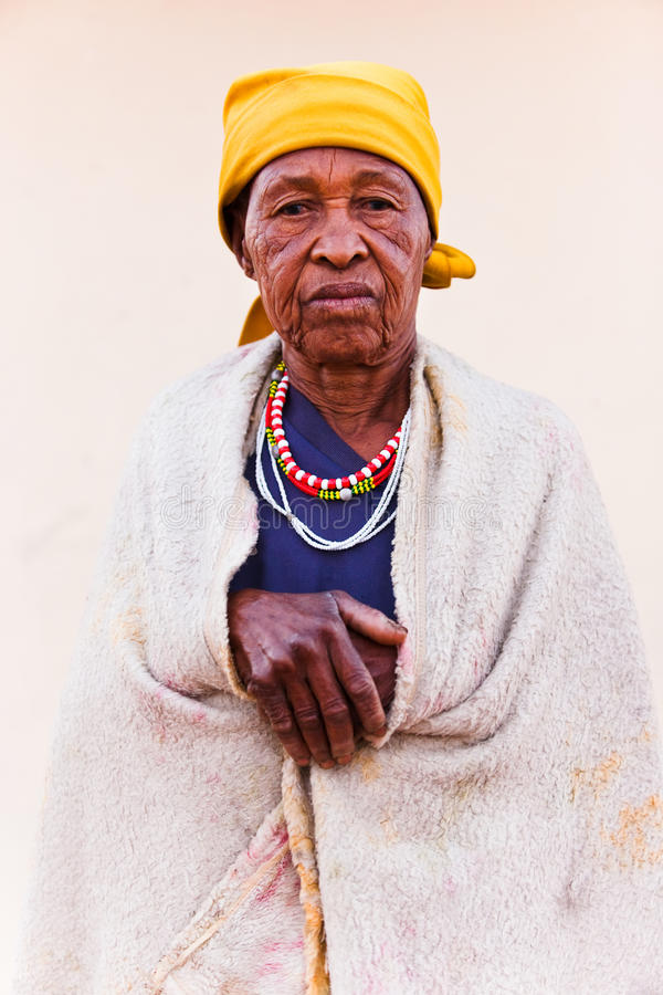 Senior African woman stock photos