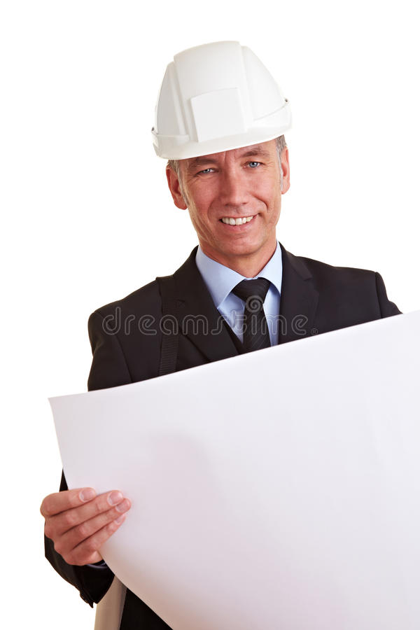 Senior architect at work royalty free stock photos