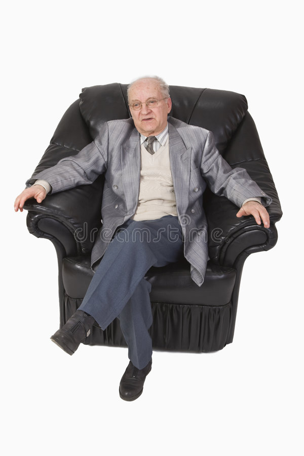 Download Senior in an armchair stock photo. Image of male, businessperson - 4326220