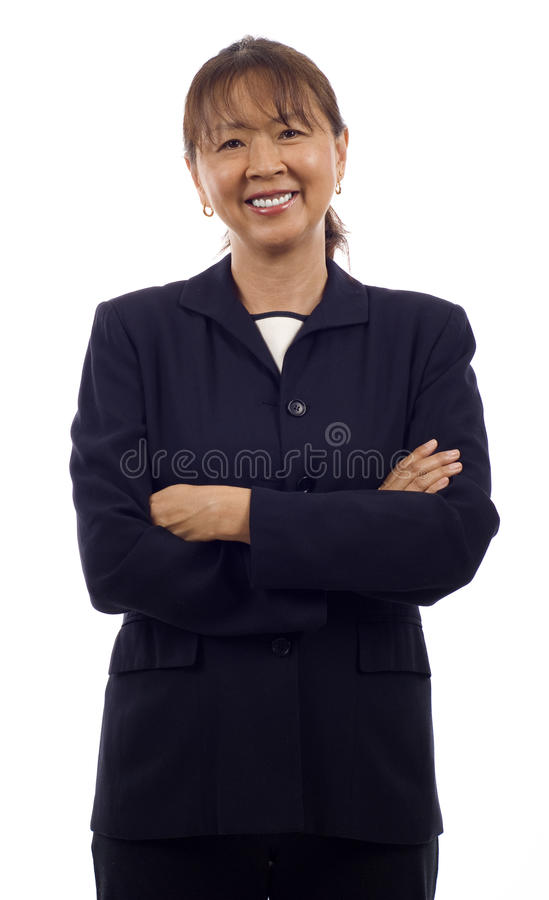 Senior Asian Business Woman royalty free stock photos
