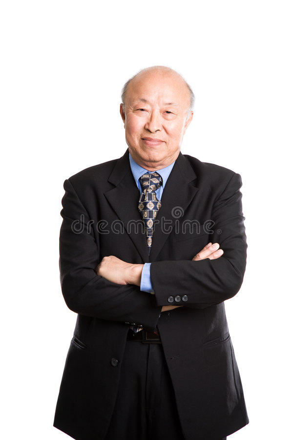 Download Senior asian businessman stock photo. Image of worker - 6648130