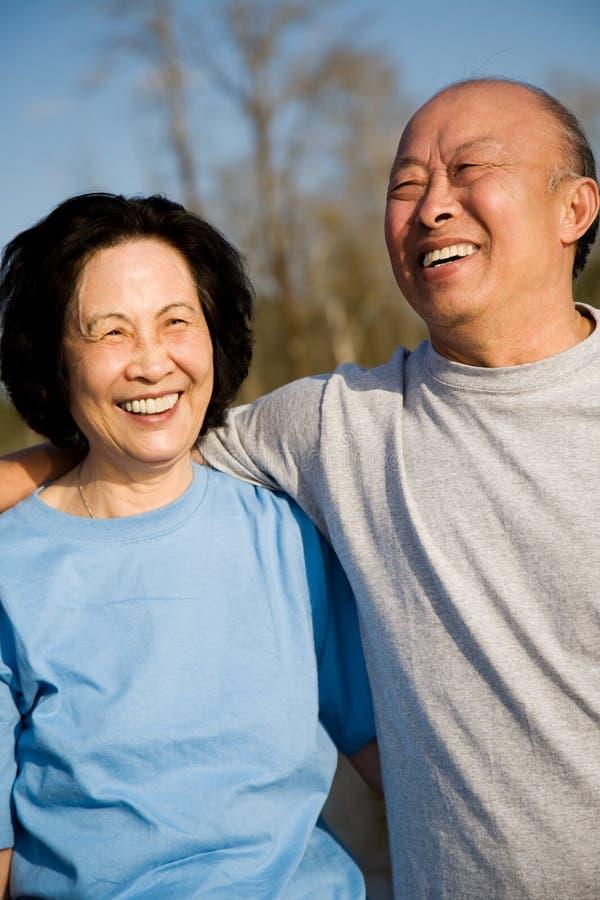 Free Senior Asian Couple Royalty Free Stock Photography - 5150177