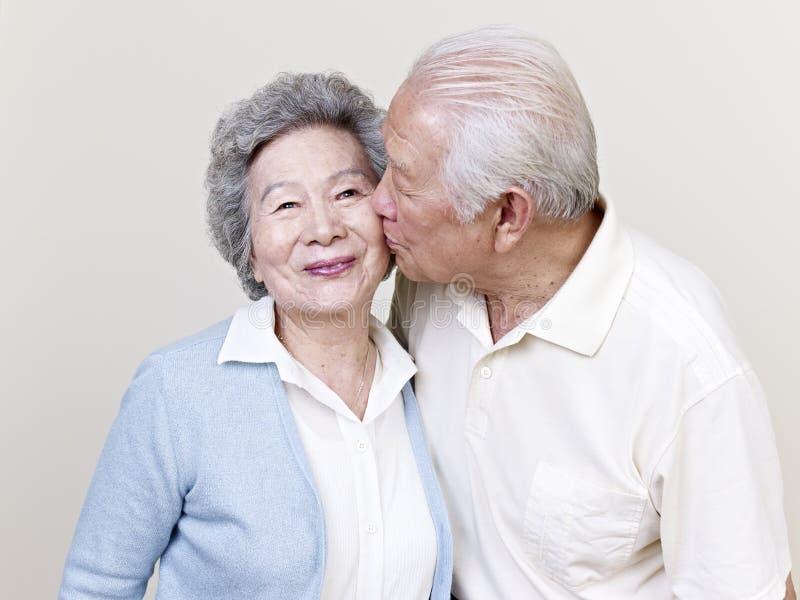 Senior asian couple royalty free stock photo