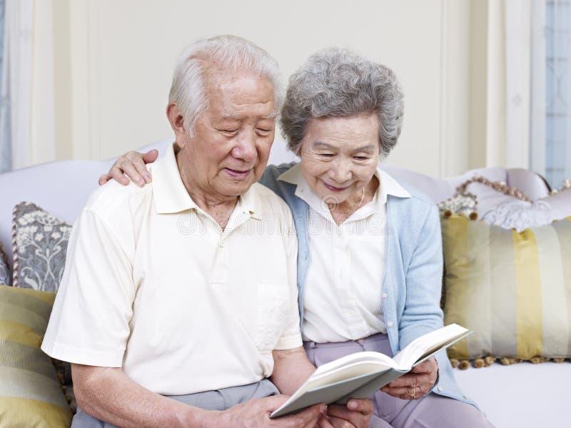 Senior asian couple stock image