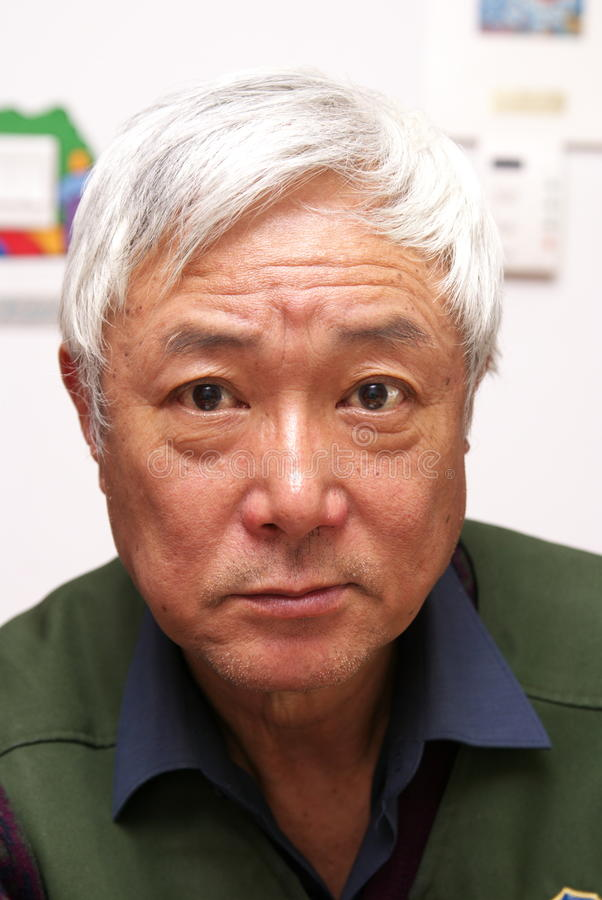 Senior Asian man stock photos