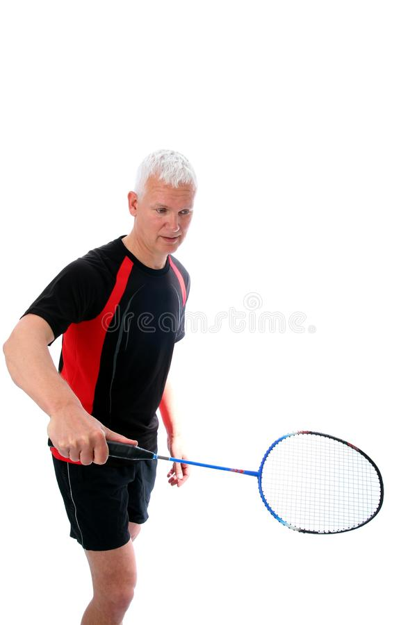 Download Senior With Badminton Racket Royalty Free Stock Photos - Image: 23861528