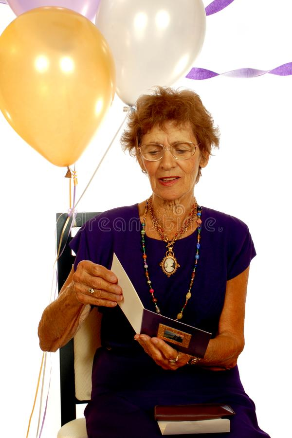 Senior Birthday Party stock image