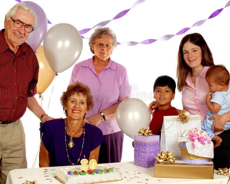 Senior Birthday Party royalty free stock photo