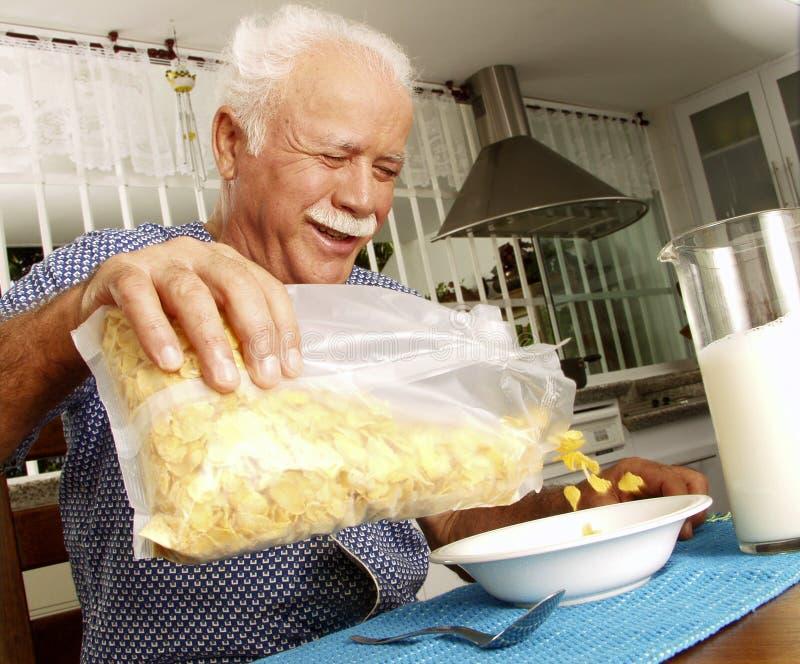 Senior Breakfast. Royalty Free Stock Image