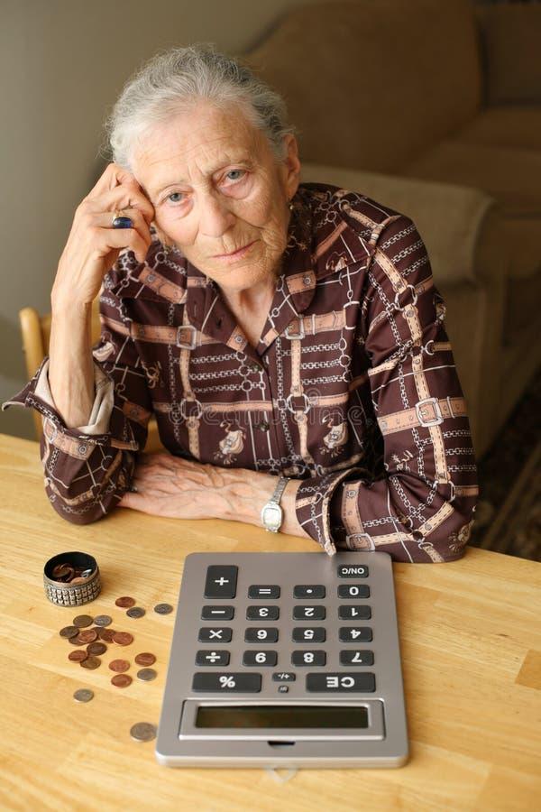 Senior budget royalty free stock images