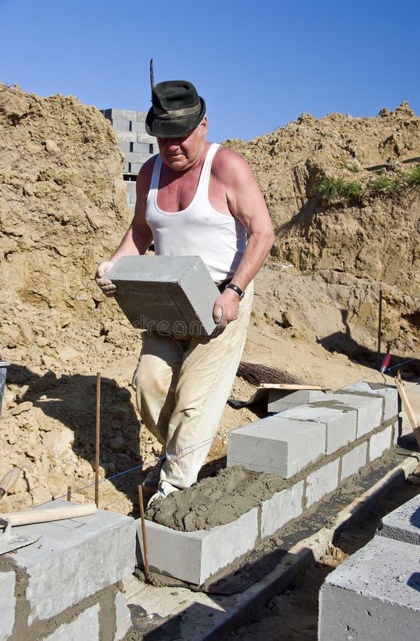 Senior builder stock images