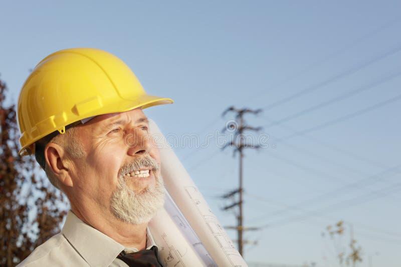 Senior builder royalty free stock photos