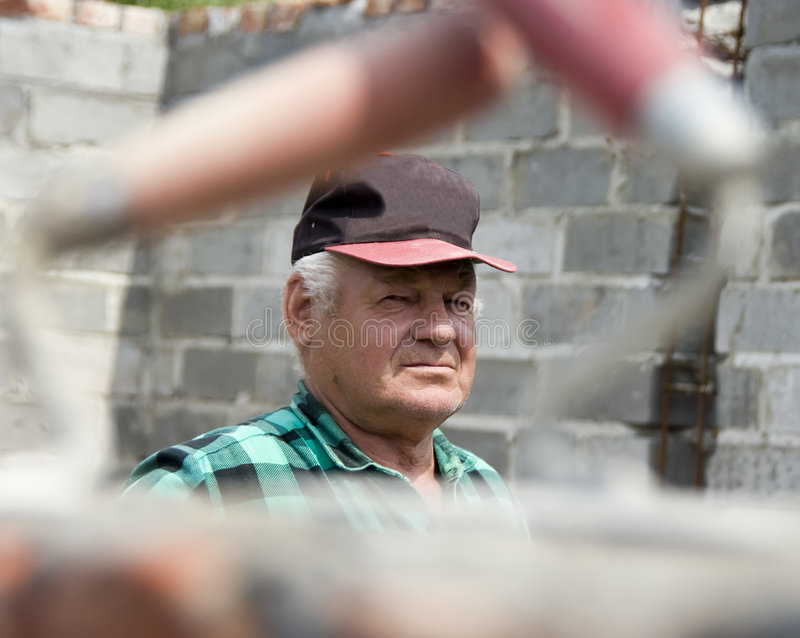 Download Senior builder portrait stock photo. Image of skillful - 5464804