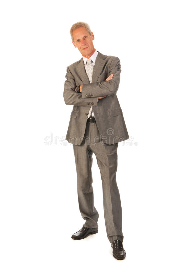 Download Senior business man stock photo. Image of cheerful, standing - 26321534