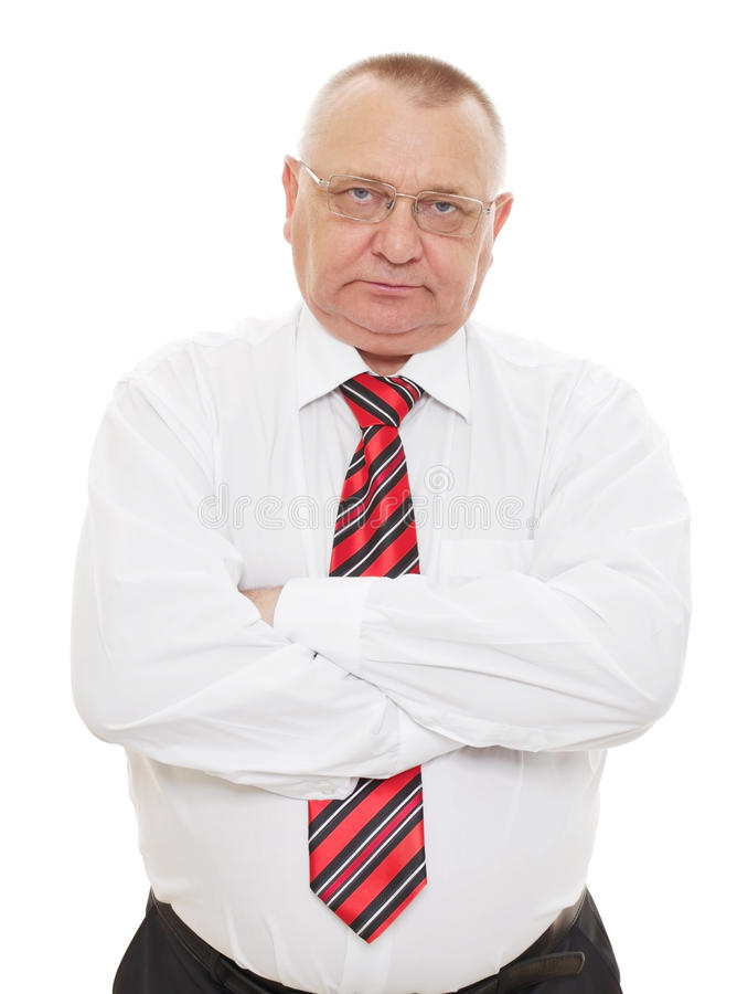 Download Senior Business Man With Crossed Arms Stock Photo - Image: 23716996