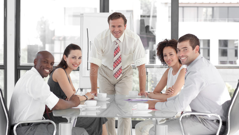 Download Senior Business Man Giving A Presentation Stock Photo - Image: 9002058