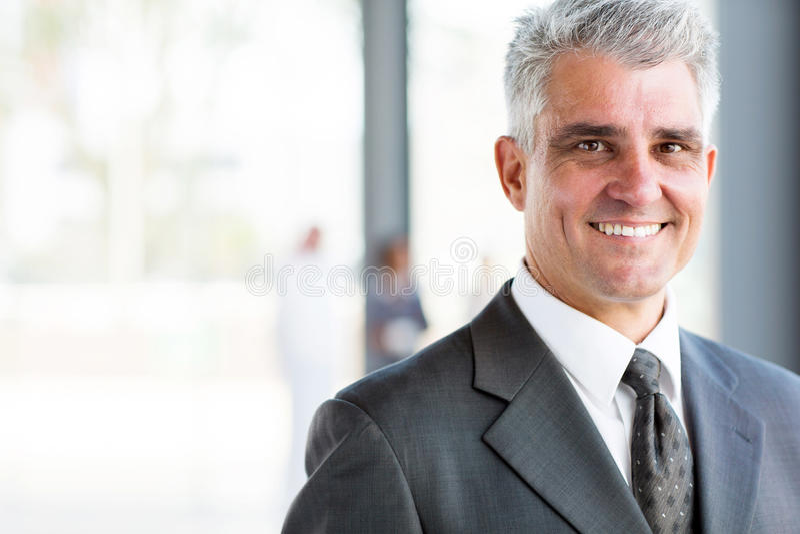 Senior business man. Portrait of happy senior business man royalty free stock images