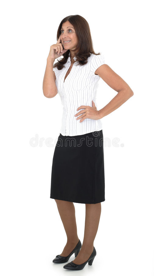 Senior business woman. Portrait of a senior business woman thingking about a new project royalty free stock photos